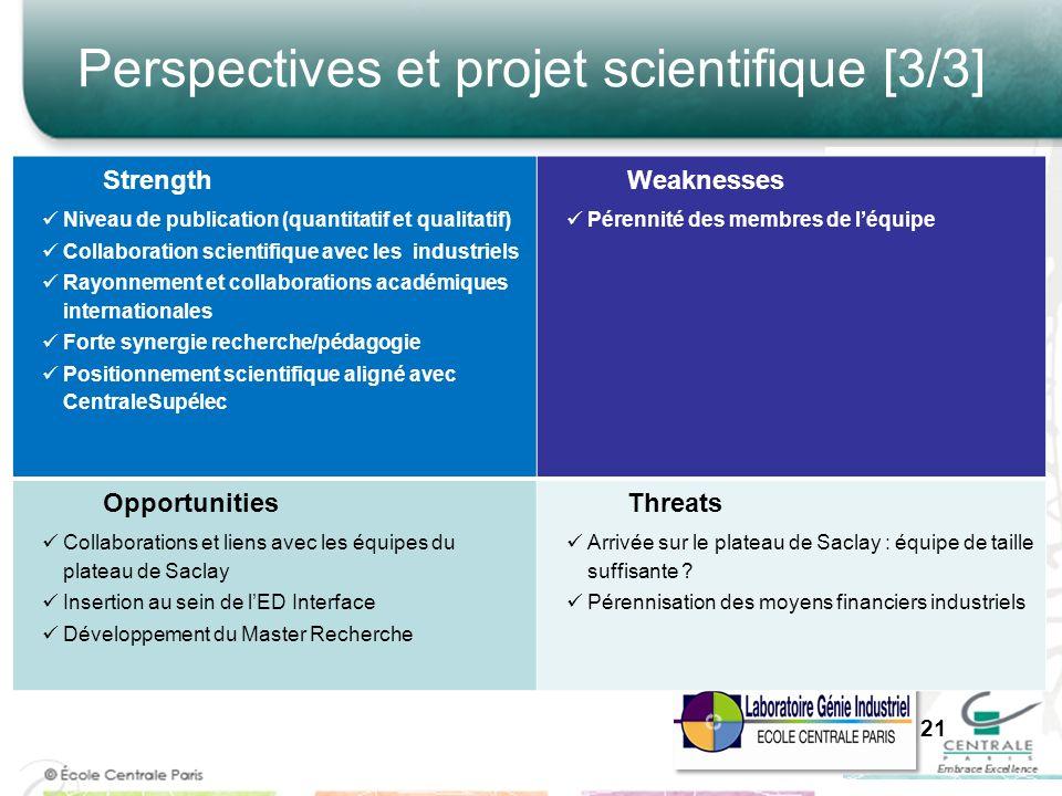 Perspectives et projet scientifique [3/3]